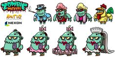 Featured Zombie Misfits 2 Game Character, Character Concept, Concept Art, Character Design, Scary Characters, Fictional Characters, 2d Game Art, Pencil Sketching, Game Interface