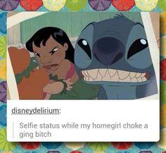 Stitch selfie… jajaj