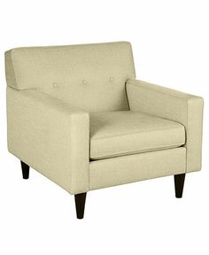 "Clare Fabric Living Room Chair, 34""W x 37""D x 37""H: Custom Colors - Chairs & Recliners - furniture - Macy's"