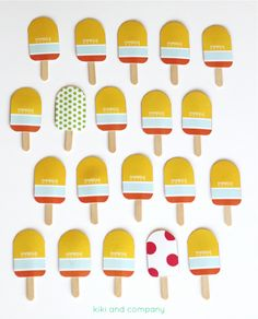 Popsicle Match game from Kiki and Company for iheartnaptime.com | Kid crafts