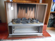 Vintage Retro 1970s Coal Effect Electric Fire in Home, Furniture & DIY, Fireplaces & Accessories, Fireplaces | eBay