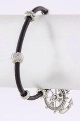 Black and Silver Sailor Bracelet