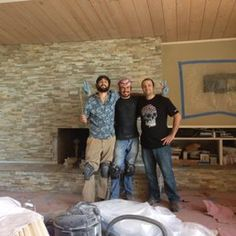 Photo of Louey Kachinsky Construction and Structural Design - San Anselmo, CA, United States. Louey and his crew renovated my living room and covered up this ugly brightly colored pink tile that was on the fire place.