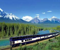 Travel across the country by train.