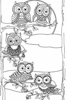 More Eclectic Owls: An Adult Coloring Book (Eclectic Coloring Books) (Volume Owl Coloring Pages, Coloring Pages For Grown Ups, Adult Coloring Book Pages, Printable Coloring Pages, Coloring Sheets, Coloring Books, Owl Crafts, Owl Art, Colorful Drawings