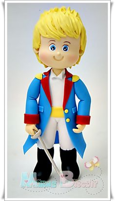 Pequeno Príncipe Fondant Cake Toppers, Fondant Baby, Fondant Figures, Little Prince Party, The Little Prince, Fondant People, Prince Cake, Clay People, Cupcakes For Boys