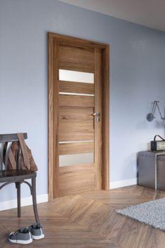 Door Design Interior, Corridor, Wood Doors, Bathroom Inspiration, Tall Cabinet Storage, Sweet Home, Room Decor, Furniture, Solid Wood
