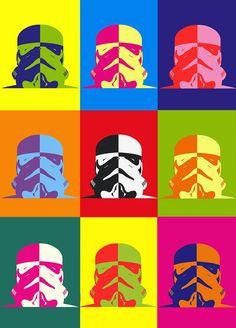 Stormtrooper pose a nine color pop