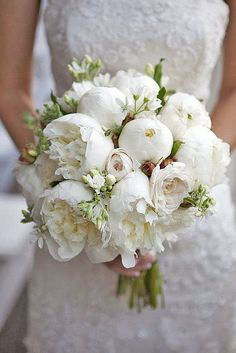 Wedding bouquet is an important part of the bridal look. Looking for wedding bouquet ideas? Check the post for bridal bouquet photos! Peony Bouquet Wedding, White Wedding Bouquets, Bride Bouquets, Bridal Flowers, White Peonies Bouquet, Bouquet Flowers, Cascading Bouquets, Blush Peonies, Purple Bouquets