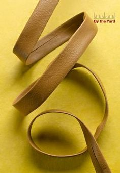 """TAN Faux Leather Band 1/2"""" by the Yard : Fashion Craft Trim:Wrights at Simplicity.com"""
