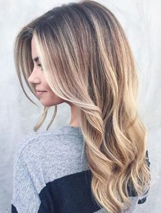 Natural Blonde Balayage Hairstyles Ideas for Long Hair
