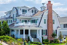 Beach House wirh coastal weathervane. Beach House Design. Beach House Exterior Ideas. #BeachHouse  J G Popper Custom Builder LLC.