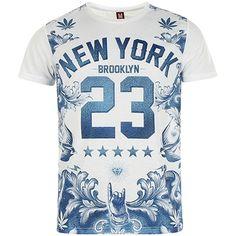 Tee Shirt Cash Money 215B Bleu Porcelaine - LaBoutiqueOfficielle.com