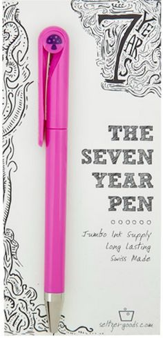 7 Year Pen!  Write 5 1/2 feet every day for 7 years without running out of ink! http://rstyle.me/n/rp38mnyg6