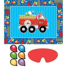 Fire Engine Party Game - Boys Birthday - Clearance Event - Theme Parties - Categories - Party City