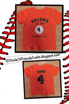 Photo on Circle of Friends Crafts- Lil' Sis and Biggest Fan Baseball Tshirt