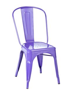 This ultra violet steel chair comes in 18 different colors. #hgtvmagazine http://www.hgtv.com/design/decorating/furniture-and-accessories/9-finds-that-come-in-a-rainbow-of-colors-pictures?soc=pinterest