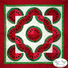 "Slice of Summer Quilt Pattern, 48 x 48"", designed by Colette Belt for Quilters' Paradise"