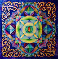 Ronquido de Om mani padme Mantra Mandala impresión por mandalaway