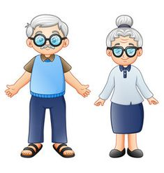 Illustration of Vector illustration of Cartoon elderly couple vector art, clipart and stock vectors. Elderly Couples, Old Couples, Clipart Baby, Page Borders Design, Family Drawing, Teacher Stickers, Baby Clip Art, School Posters, Borders For Paper