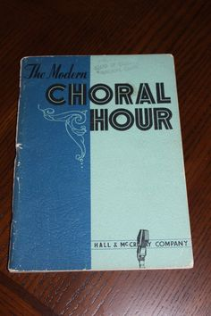 The Modern Choral Hour HALL& McCREARY COMPANY by jewelryonmymind