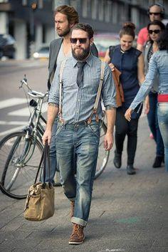 Love how he rocked his suspenders..