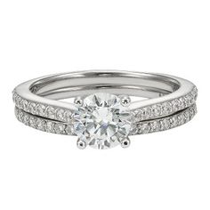 Helzberg Diamond Symphonies� 1 1/2 ct. tw. Diamond Engagement Ring Set in 14K Gold available at #HelzbergDiamonds
