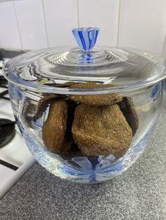 Sometimes baking cookies ...  and keeping in a beautiful glass jar.