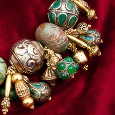 Statement Collector necklace of inlaid Tibetian por GlobalBeadFinds