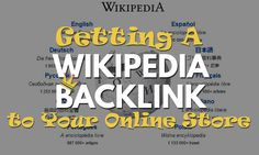 Keep building traffic to your ecommerce site with backlinks and referrals. Here is how you can get a Wikipedia backlink to your online store. Web Seo, Online Marketing, Ecommerce, Articles, Company Logo, Tech Companies, Store, Building, Larger