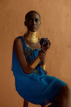 Clam Magazine #28  Muse: Mahany Pery Photography: Adriano Damas #gold #accessories