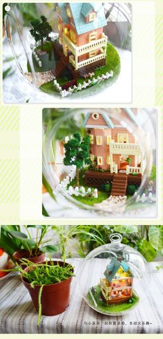 DIY Glass Ball Doll House Model Building Kits Wooden Mini Handmade Miniature Dollhouse Toy Birthday Greative Gift Mini House-in Doll Houses from Toys & Hobbies on Aliexpress.com | Alibaba Group