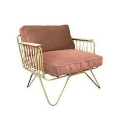 Brushed Brass Croisette Arm Chair - Velvet - Honoré Adult- A large selection of Design on Smallable, the Family Concept Store - More than 600 brands. Wooden Armchair, Grey Armchair, Velvet Armchair, Velvet Cushions, Sofa Design, Patio Design, Furniture Design, Epoxy, Outdoor Chairs