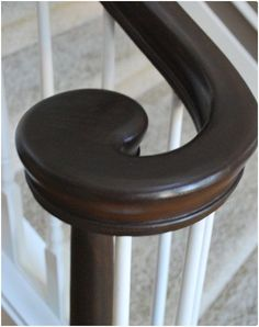 tutorial for how to paint light wood railings dark! This is fantastic!