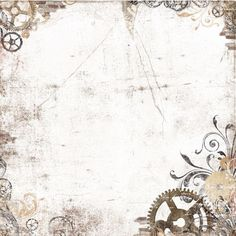 Vintage background with gears corner accents