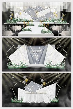 Modern Nordic marble personality wedding effect picture & Models Decor