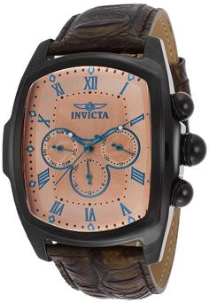 Invicta Men's 12645 Lupah Grand Collection Watch with Interchangeable Leather Straps