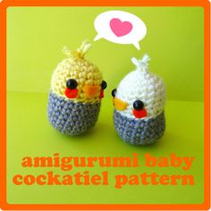 Baby Cockatiel Amigurumi Pattern! thanks so for sharing this xox