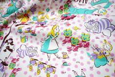 Hey, I found this really awesome Etsy listing at https://www.etsy.com/listing/223998072/disney-fabric-alice-in-wonderland-1
