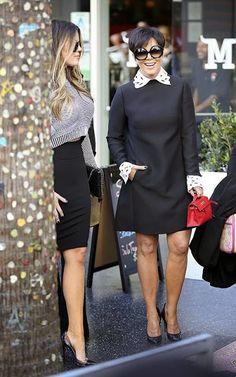 Celeb Diary: Khloe Kardashian & Kris Jenner @ W Hotel in Hollywood
