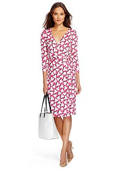 DVF New Julian Two Silk Jersey Wrap Dress