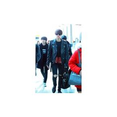 141211- BTS Jin (Kim Seokjin) Incheon Airport #bts #bangtanboys... ❤ liked on Polyvore featuring bts and people