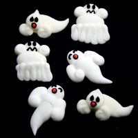 Royal Icing Toppers - Ghosts
