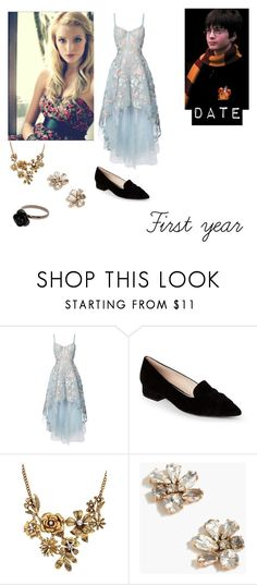 """""""Giana westbrook yule ball with Harry potter"""" by bandloverforever12 ❤ liked on Polyvore featuring Notte by Marchesa, Cole Haan, WithChic and J.Crew"""