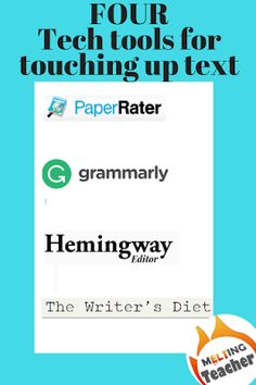 mELTing Activities, Lessons and Ideas: Using tech to help students review their writing