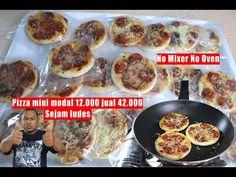 Pizza mini teflon tanpa mixer tanpa oven modal 12000 jual 42000 - YouTube Mixer, Oven, Pizza, Food And Drink, Chicken, Cake, Crafts, Diy, Pie Cake