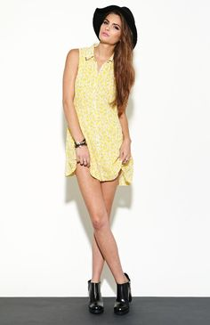 Lucca Couture Yellow Floral Dress #pacsun
