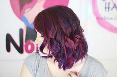 Pelo rosa y morado / Pink & purple hair
