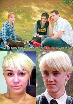 OMG too funny (and mean but mostly funny) #meangirls #mileycyrus #drakomalfoy