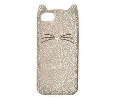 Kate Spade Glitter Cat Silver Iphone 6 Cover Case NEW  #KATESPADE